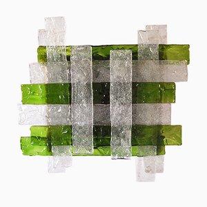 Wandlampe aus grünem Muranoglas von Poliarte, 1960er