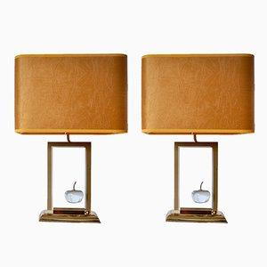 Lampes Pomme de Le Dauphin, 1970s, Set de 2