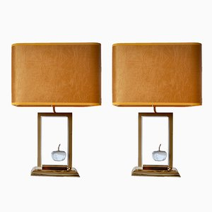 Pomme Lamps from Le Dauphin, 1970s, Set of 2