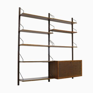Vintage Walnut Wall Unit Royal System by Poul Cadovius for Cado