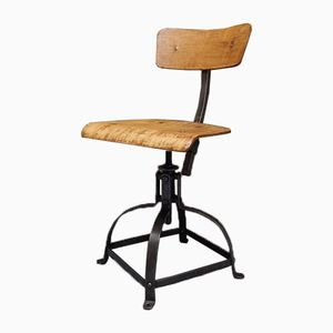 Vintage Industrial Swivel Chair from Bienaise, 1950s