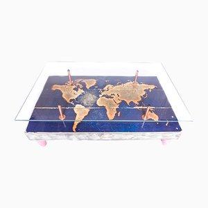 Tavolino da caffè Cappa E Spada con mappa del mondo, 2015