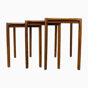 Rosewood Nesting Tables by Rex Raab for Wilhelm Renz, 1960s