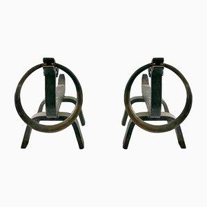 Fireplace Accessories by Osvaldo Borsani, 1950s