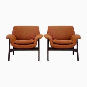 Modell 849 Armlehnstühle von Gianfranco Frattini für Cassina, 1950er, 2er Set