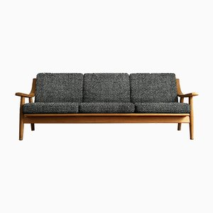 Customizable Mid-Century Oak 530 Sofa by Hans J. Wegner for Getama
