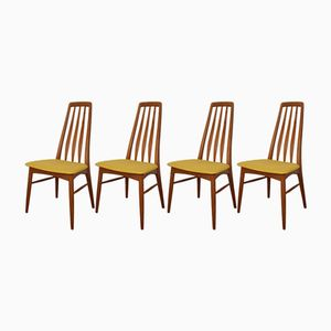 Danish Eva Chairs by Niels Koefoed for Koefoed Hornslet, 1964, Set of 4