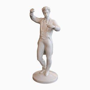 Vintage Johann Strauss Figurine from Augarten Porzellan, 1950s