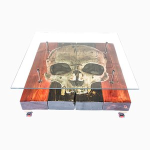Table Basse Gothic Skull par Anthony W Parry pour Cappa E Spada, 2015