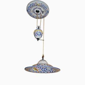 Lampada Saliscendi arabesca vintage