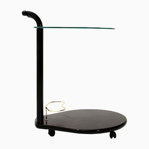 Italian Black Lacquered Cart, 1980s