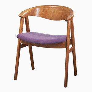 Stuhl aus Eiche mit Kompass-Beinen von Erik Kirkegaard für Høng Stolefabrik, 1960er