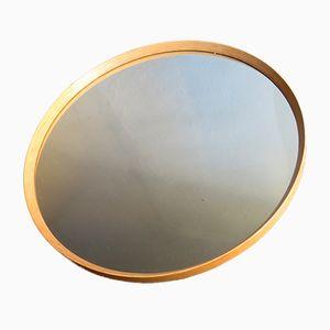 Specchio grande vintage in quercia, anni '70