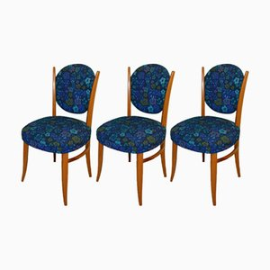 Flower Power Dining Chairs, 1970s, Set of 3