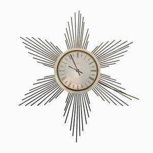 Horloge Murale Soleil en Métal de Paico, 1960s