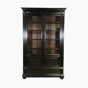 19th Century Napoleon III Blackened Wood Cabinet