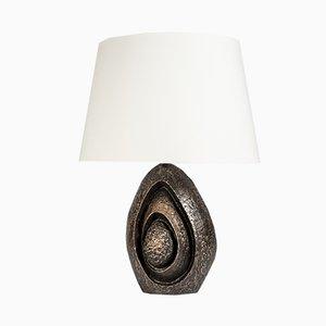 Skulpturale Lampe aus Bronze von Fernand Dresse, 1970er