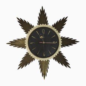 Horloge Murale Soleil de Metamec, 1960s