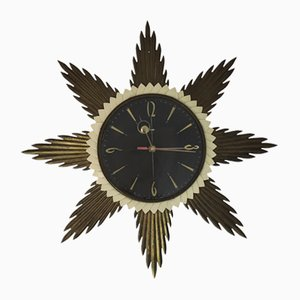 Sunburst Wall Clock from Metamec, 1960s