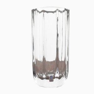Achtkantige Vase aus Kristallglas von Asta Stromberg für Strömbergshyttan, 1950er