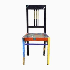 Chaise Peinte à la Main Vintage