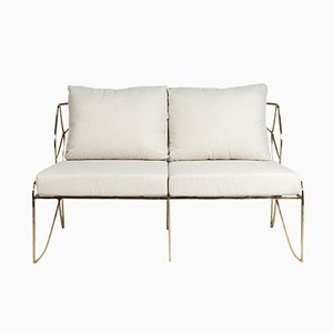 French Bronze 2-Seater Sofa, 1970s