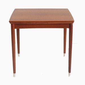 Mesa extensible de teca de Poul Hundevad para Hundevad & Co., años 60