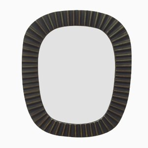 Small Brass Wall Mirror by Walter Bosse for Herta Baller, 1950s