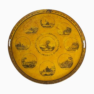 Antique Decorative Tray of the Monuments of Lyon