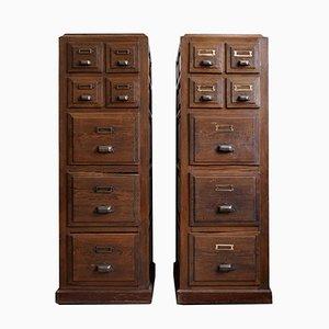 Muebles de oficina antiguos, años 10. Juego de 2
