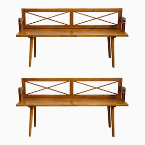 Biedermeier Turning Benches, 1830s, Set of 2