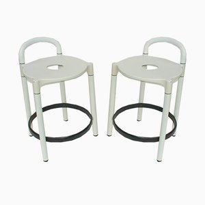 Italian Stools by Anna Castelli Ferrieri for Kartell, 1979, Set of 4