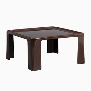 Vintage Brown Fiberglass Side Table by Mario Bellini For C&B Italia