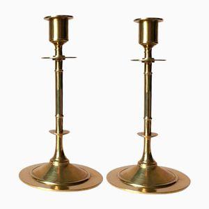 Vintage Kerzenhalter aus Messing von Grillby Metallfabrik, 2er Set