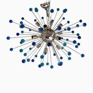Lampadario grande Triedo Sputnik in vetro di Murano