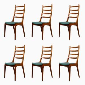 Mid-Century Teak Dining Chairs par Kai Kristiansen pour Korup Stolefabrik, Set de 6
