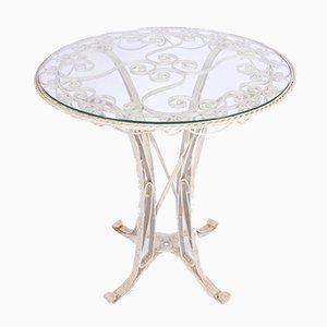 Mesa de jardín vintage de hierro forjado