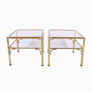 Faux Bamboo Side Tables, 1960s, Set of 2