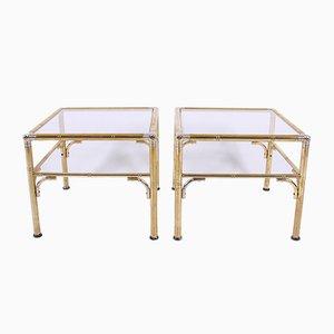 Tables d'Appoint en Imitation Bambou, 1960s, Set de 2