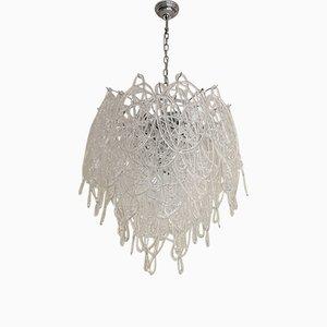 Lámpara de araña Triedo Sputnik de cristal de Murano