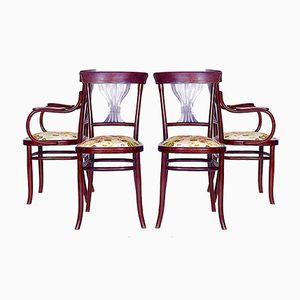 Österreichische Stühle, 1890er, 4er Set