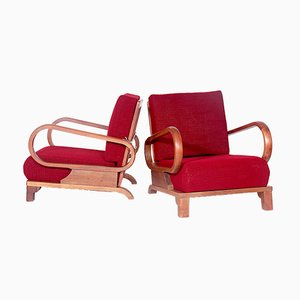 Armchairs by Jindřich Halabala, 1970s, Set of 2