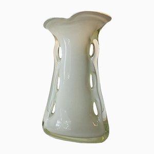 Polnische Vintage Shark Fin Vase von Huta Tarnowiec, 1970er
