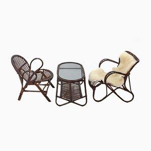 Juego de salón de tres piezas vintage de Rohé Noordwolde