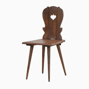 Mid-Century French Alpine Chalet Style Dining Chair, 1960s