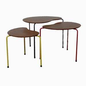 Tables Gigognes de Thonet, France, 1950s, Set de 3