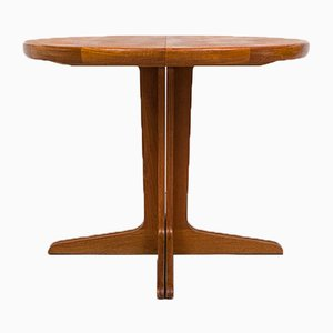Small Extendable Teak Dining Table, 1960s