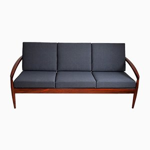 Rosewood Paper Knife Sofa by Kai Kristiansen for Magnus Olesen, 1950s