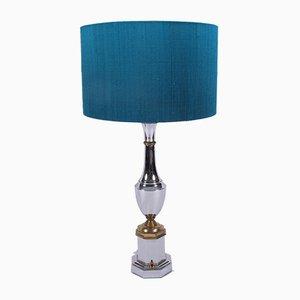 Lampade da tavolo Mid-Century in metallo cromato, set di 2