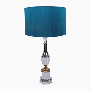 Mid-Century Chrome Table Lamps, Set of 2